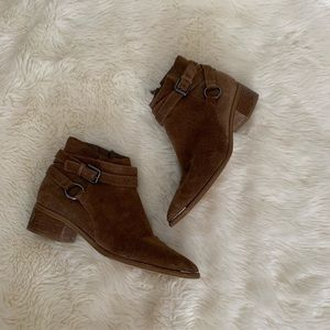 Marc Fisher Mlyatina Suede Ankle Boots